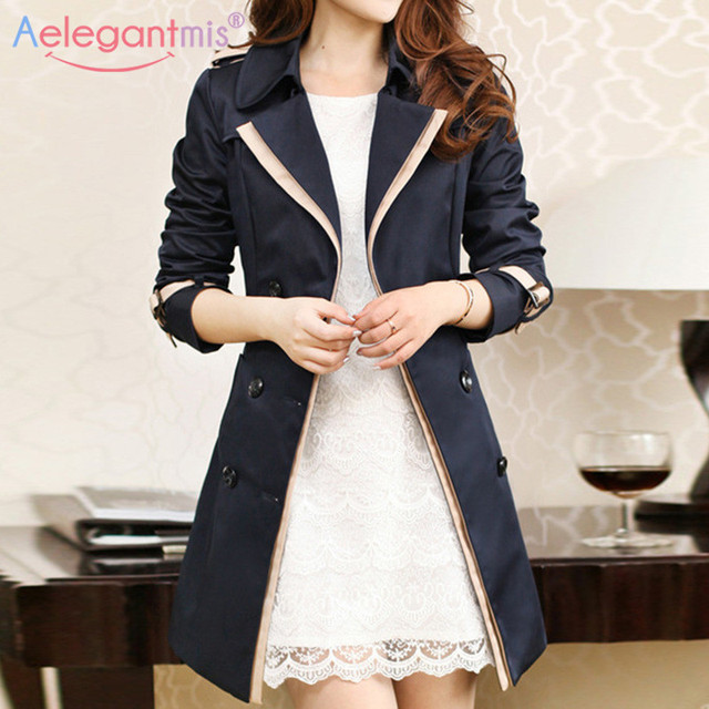 Autumn Women Double Breasted Long Trench 2
