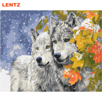 Animal Picture By Numbers Kits Wolf Painting Picture Diy Paint By Numbers Living Room Decoration Office