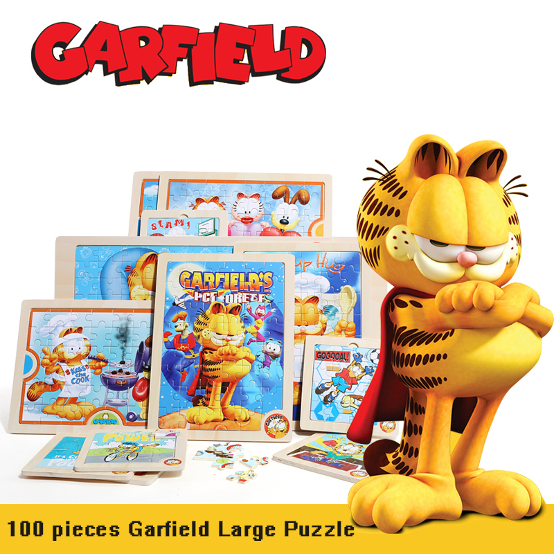 Garfield 100 Pieces Pattern Puzzle Toys Cartoon Wood Puzzle Children Kid S Toy Environmentally Friendly Wood