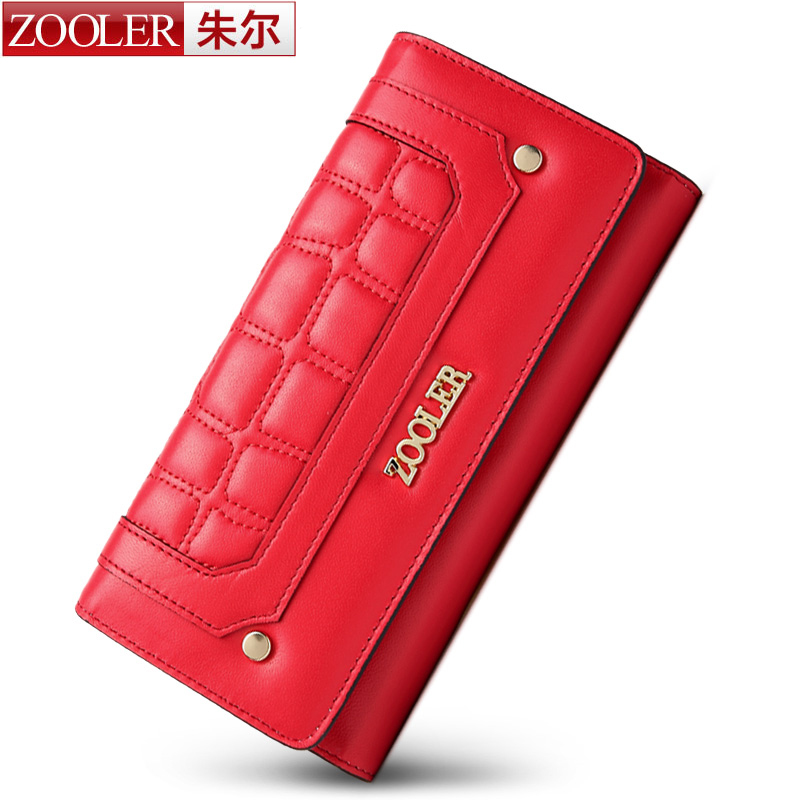 ФОТО ZOOLER brand superior sheepskin women leather wallets fashion lady wallet Classic dayclutch purses top quality Hot product#8632