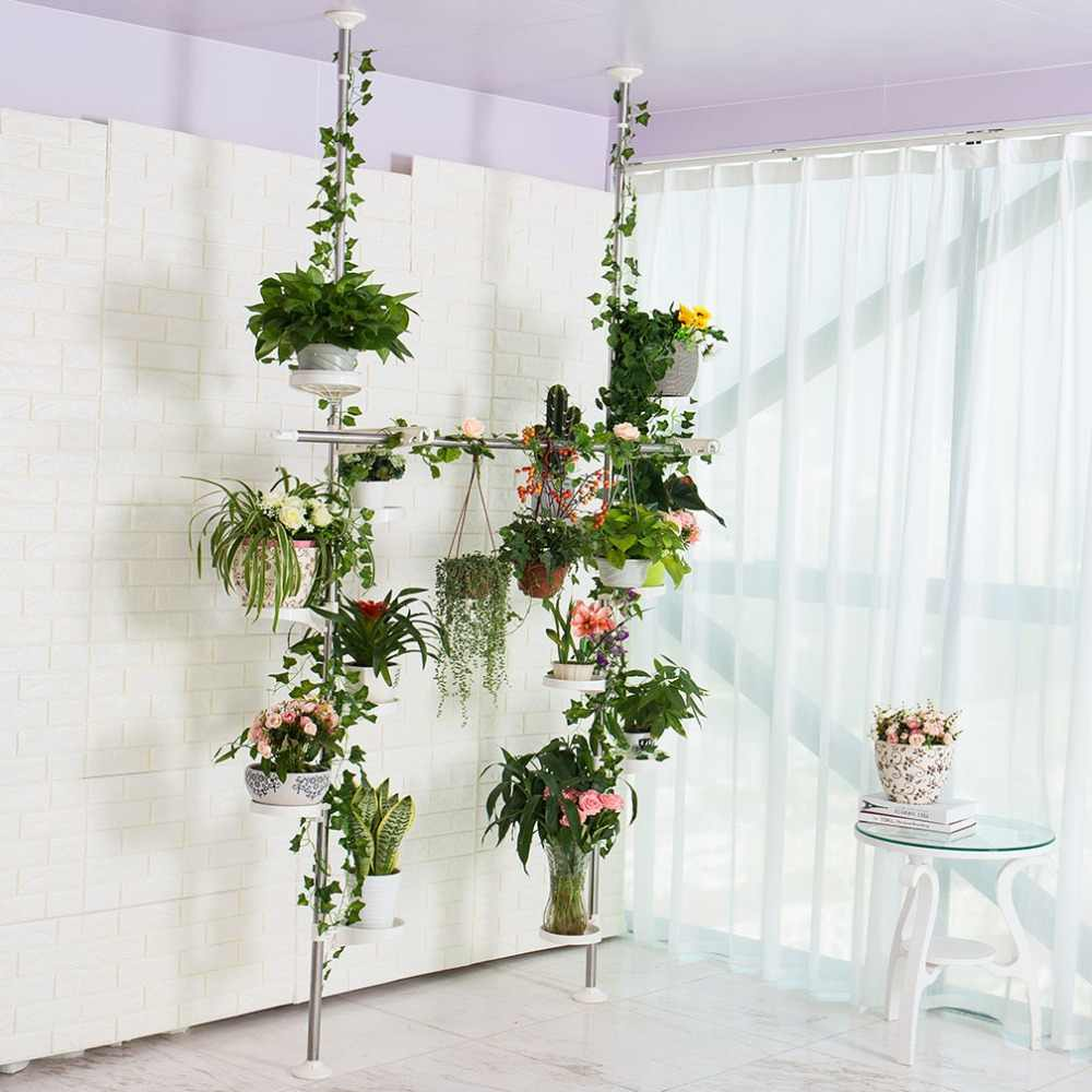 Plant Stand Garden Decor Planter Holder Flower Pot Shelf Rack Indoor Pot Storage Indoor Plant Organiser Stand DQ1607-3