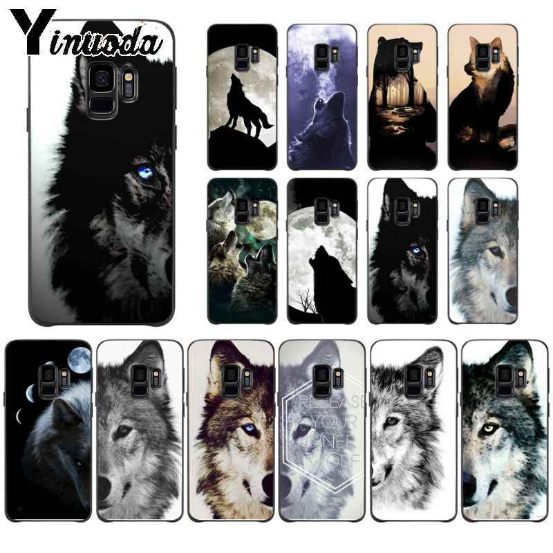 Yinuoda Cool Half Wolf Face Animal Pattern Soft Phone Cell Phone Case For Samsung Galaxy S9 S8 Plus Note 8 Note9 S7 Note5 Cases