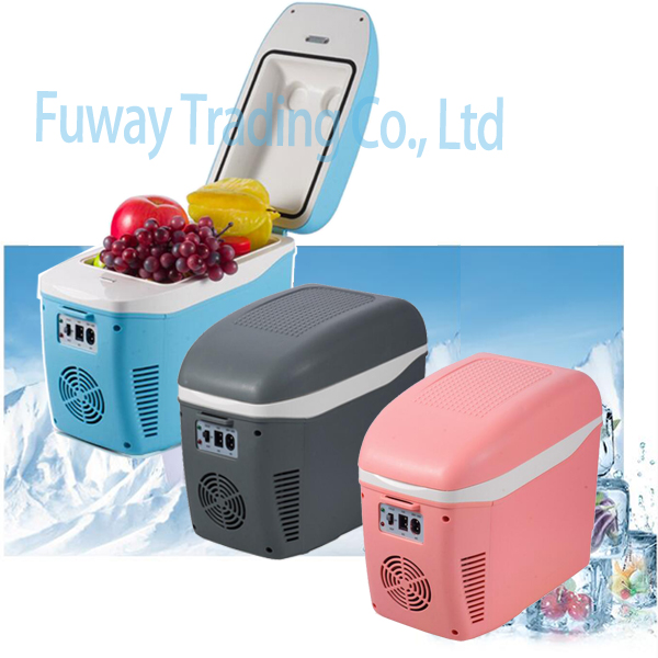 Free Shipping!!! Car Mini Fridge 7.5L ABS Mini Car Refrigerator Cooling And Warming Multi-Function Portable Car Freezer 520w cooling capacity fridge compressor r134a suitable for supermaket cooling equipment
