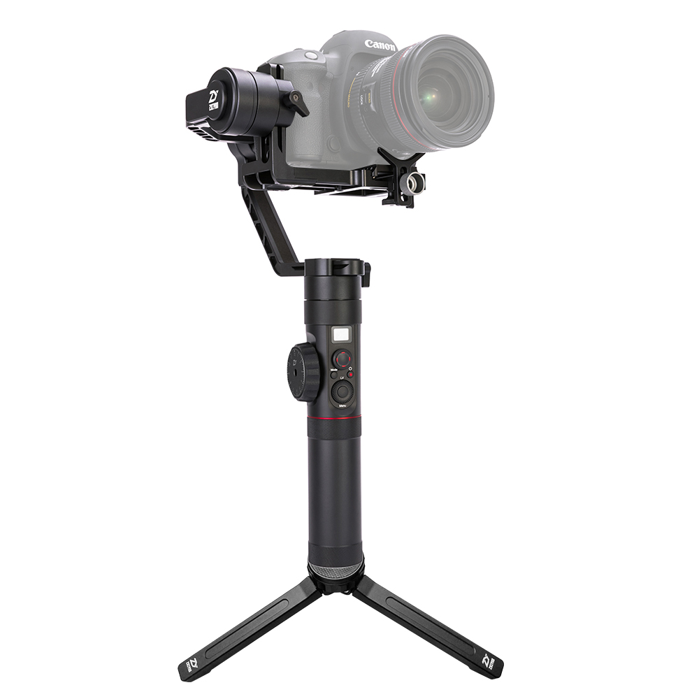 Zhiyun Crane 2 3 eje cardán portátil cámara de vídeo giroscopio estabilizador para DSLR con enfoque de seguimiento remoto 3,2Kg de carga útil pantalla OLED - 2