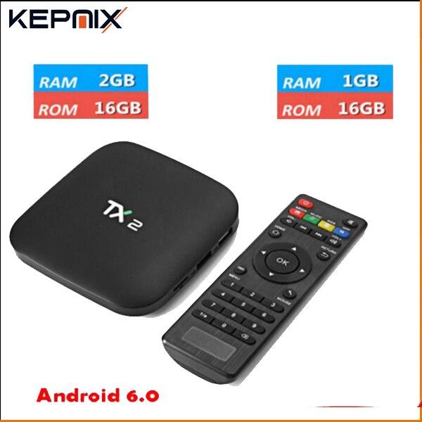 10 PCS TX2 R2 2G 16G En Option RK3229 Quad Core tx2 r1 10 pcs Smart TV Box Android 6.0 H.265 4 K DLNA Bluetooth 2.1 SET TOP BOÎTE