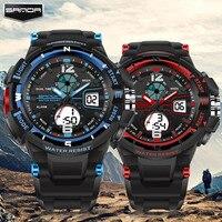 2016 Fashion Brand Luxury Sanda Couple Watches Men Women G Style Sport Digital Watch Shock Military