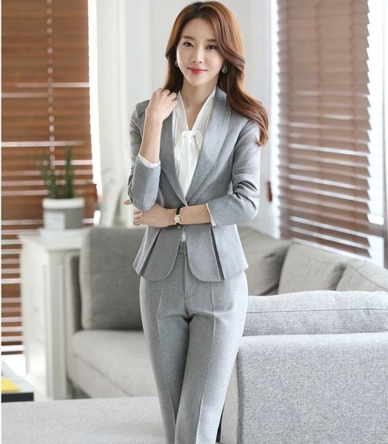 Novo 2016 Moda Terninhos Formais Ternos Jaquetas E Calças de Outono e Inverno As Mulheres de Negócios OL Fatos de Calça Calças Femininas Definir