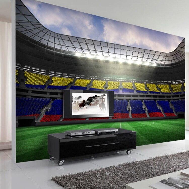 Free Shipping Coffee Shop restaurant bedroom living room TV background  wallpaper stereoscopic 3D football stadium mural. Popular Football Stadium Wallpaper Buy Cheap Football Stadium