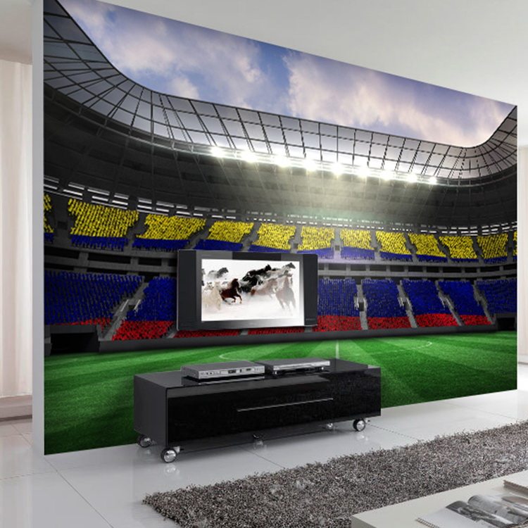 Free Shipping Coffee Shop restaurant bedroom living room TV background wallpaper stereoscopic 3D football stadium mural free shipping european football club football star messi portrait wallpaper mural