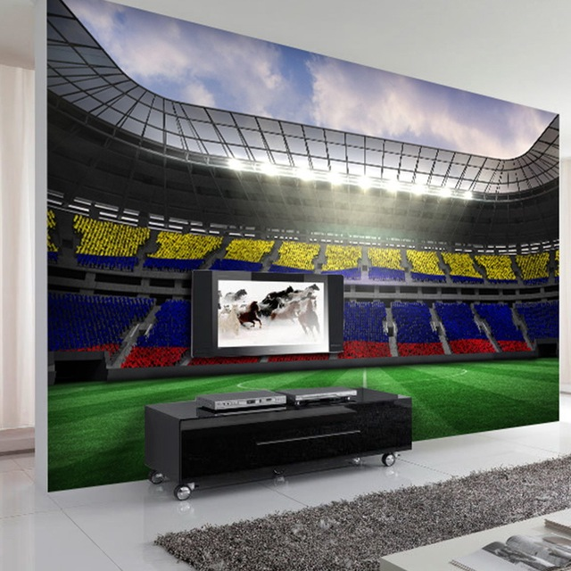 Photo Wallpaper Custom 3D Coffee Shop Restaurant Bedroom Living Room  Wallpaper Stereoscopic Football Stadium Mural Part 89