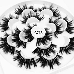 Image 4 - 3/5/7/13Pairs3D 밍크 헤어 가짜 속눈썹 15 25mm 속눈썹 두꺼운 긴 전경이 푹신한 수제 잔인한 밍크 속눈썹 메이크업 도구