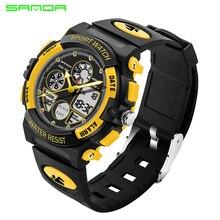 SANDA модные детские часы, спортивные светодиодный цифровые детские часы для мальчиков и девочек, детские водонепроницаемые наручные часы для детей, подарки 116