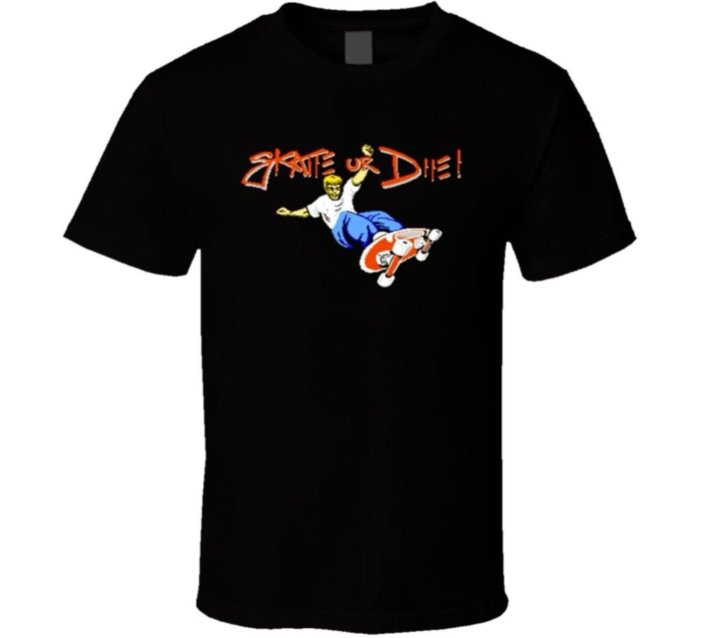 Fashion Funny Tops Tees Skate Or Die NES Retro Video Game T Shirt Cotton t shirt slogans Customized shirts for mens