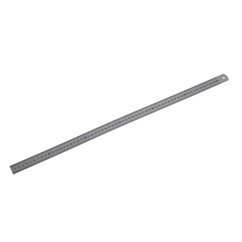 Stainless Steel 60cm 23.6 Inch Measuring Long Straight Ruler