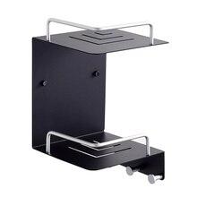Space aluminum bathroom storage rack 2 triangular double shelf corner wall hanging