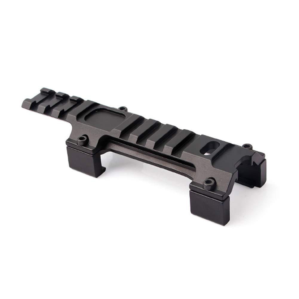 UniqueFire Tactical Low Profile Rail Scope Mount Short Top  Base 20mm Picatiny  With 11 Slots For MP5/G3/MP5K