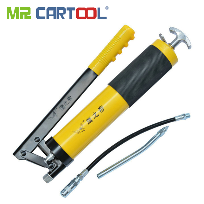 Pistolet à graisse manuel pompe à huile unique tuyau pression 10000 PSI PU Flex pour réparation automobile outils véhicules pistolets de lubrification outils