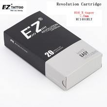 цена на RC1401RLT EZ Revolution Tattoo Cartridge Needles Round Liner Tattoo Needles #14 (0.40 mm) Super Tight X-Taper 7.0 mm 20 pcs/Box