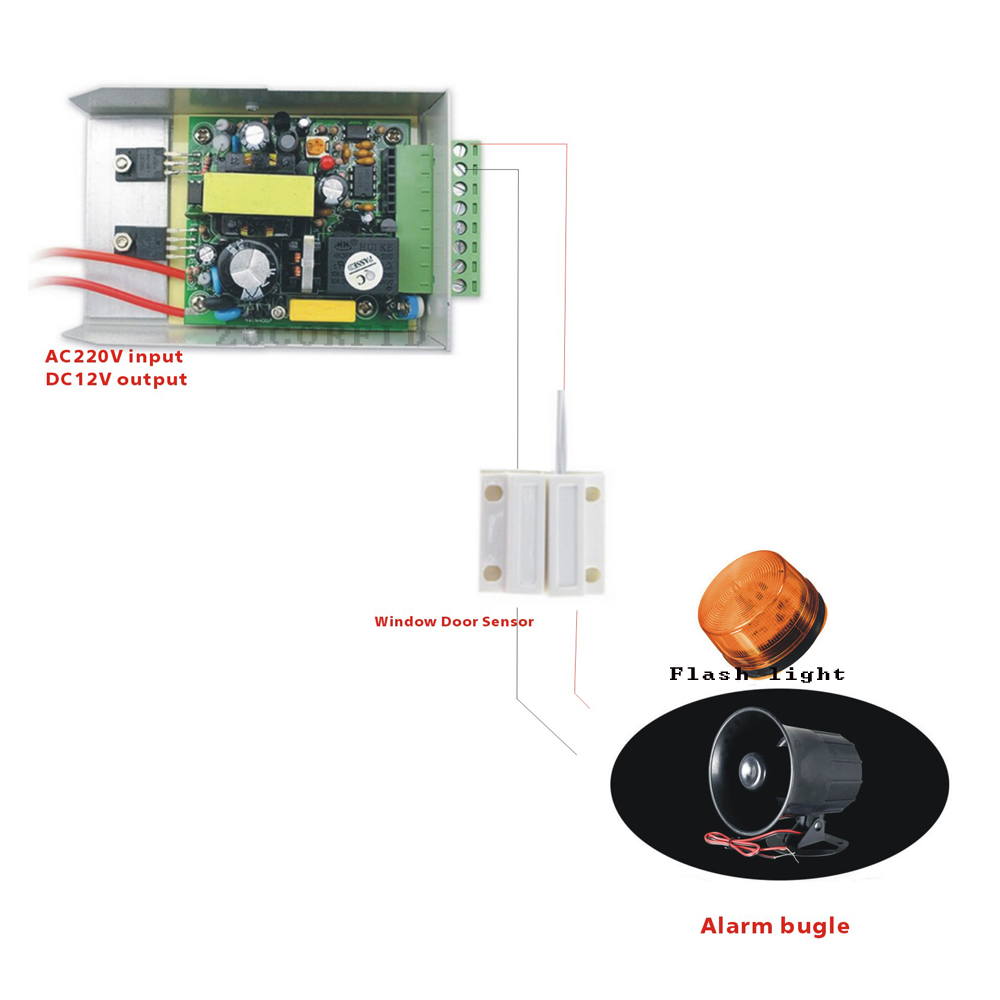 Diy Dc12v Sounds And Lights Portable Door Sensor Alarm Handle For Sound This Is The Circuit 120 Db Anti Theft Scaring Security In Detector From