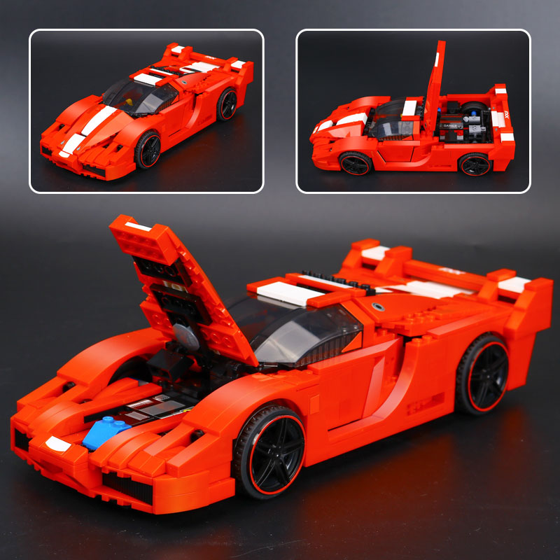 IN STOCK New lepin 21009 FXX 1:17 Toy building blocks 632pcs technic racing sports car supercar model boy gift Compatible 8156 hot racing italy horse logo fxx k