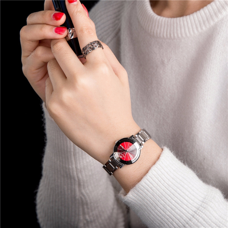 купить Dropshipping Fashion Silver Quartz Watch Women Metal Stainless Steel Dress Watches Relogio Feminino Gift Clock Hodinky по цене 475.3 рублей