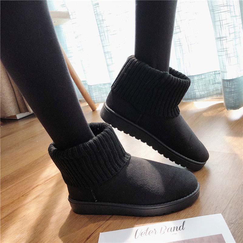Tobillo Invierno Gamuza Zapatos Moda Nieve Mujer Plataforma Redonda Botas Black gray Piel La De Punta Damas Las pink Mujeres vwxqpYA