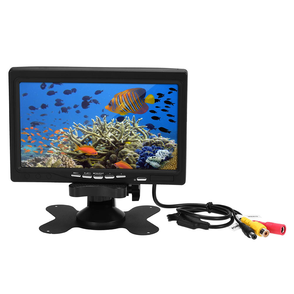 LCD Color Screen Video Monitor 7 Inch  with 8GB Memory Card Replacement Screen Accessory for Underwater Fishing Camera Fish Finder