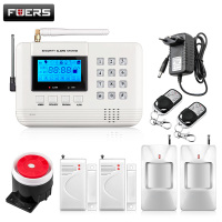 New 6 Wireless 4 Wired Defense Zones Security GSM Burglar Voice Alarm System Built In Speaker