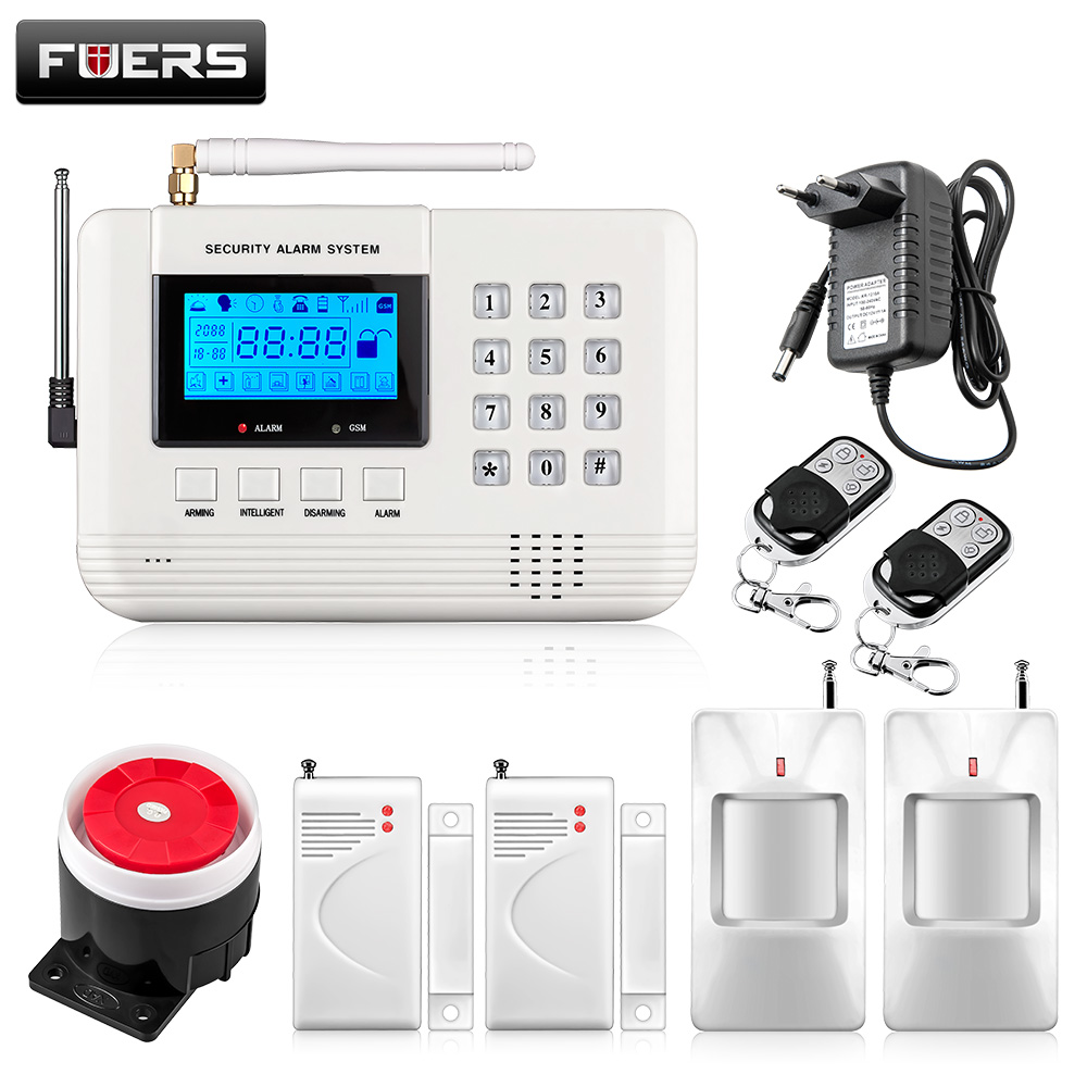 Fuers New 99 Wireless 2 Wired Defense Zones Security GSM Burglar Alarm System built-in Speaker Auto Dial Intercom Security Alarm