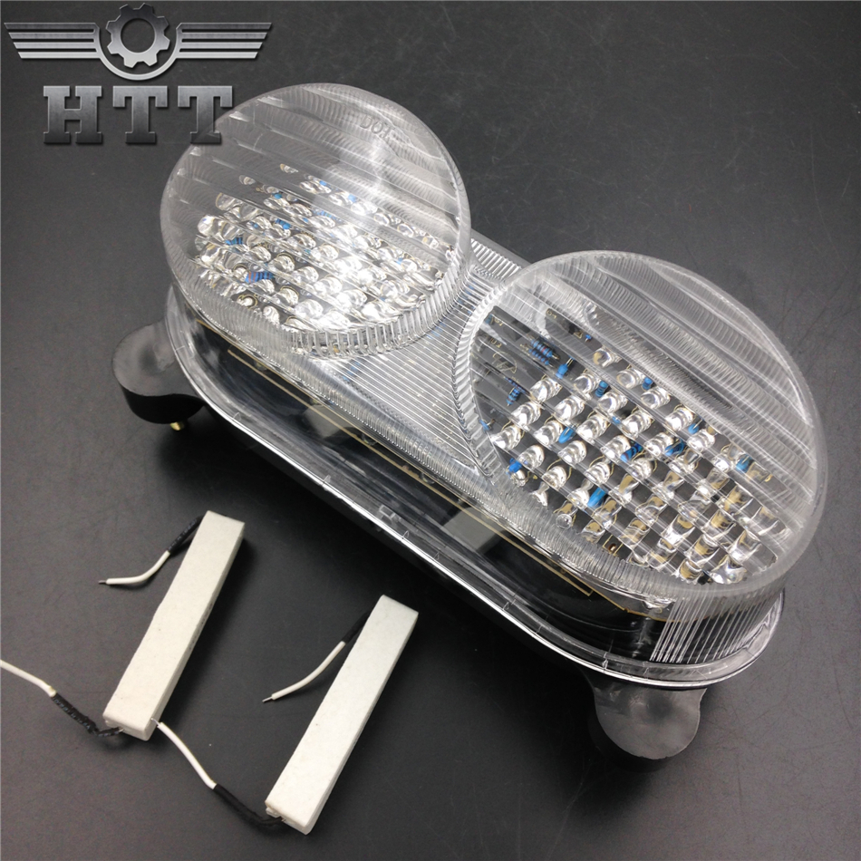 Aftermarket free shipping motorcycle parts LED Tail Light for Kawasaki Ninja ZX-6R ZX600 ZX-9R ZX900 ZR-7S ZZR600 CLEAR aftermarket free shipping motorcycle parts eliminator tidy tail for 2006 2007 2008 fz6 fazer 2007 2008b lack