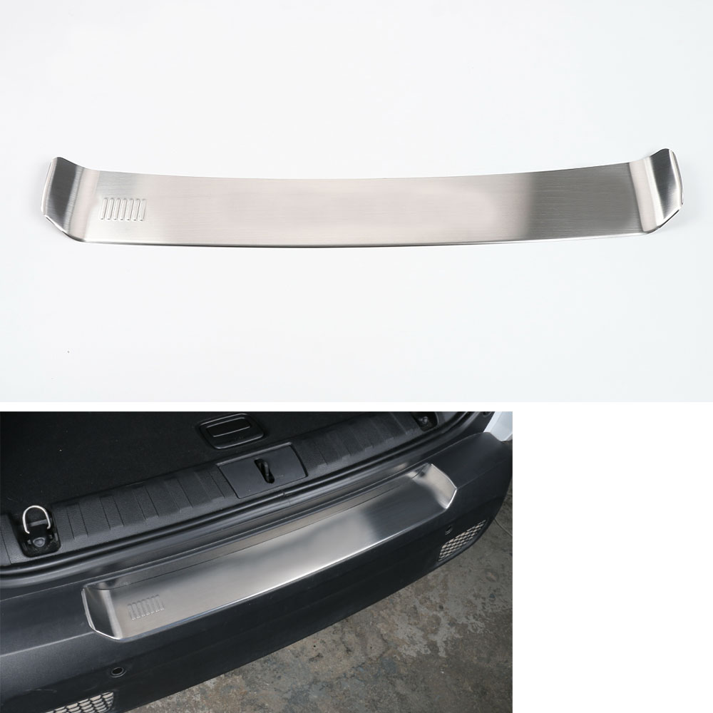 1pc Stainless steel Inner Rear bumper cargo sill plate cover Guard Trim Decoration Protector Fits For Jeep Renegade 2015-2016 stainless steel rear outer bumper protector guard plate for jeep grand cherokee 2014