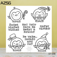 AZSG Cartoon Cute Penguin Clear Stamps/Seals For DIY Scrapbooking/Card Making/Album Decorative Silicone Stamp Crafts