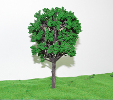 middle green color  Railroad Layout Miniature Model Trees Roadside Green in size 16.9cm