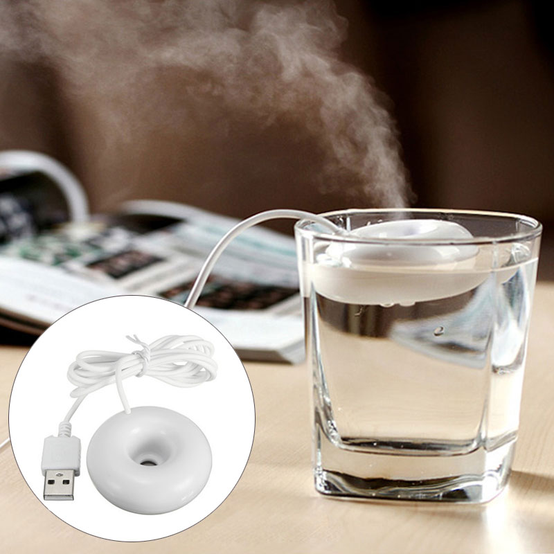 Fashion UFO USB Air Humidifier Mini Portable Donuts Spacecraft Air Purifier Aroma Diffuser MistMake Home Office Car Best Selling