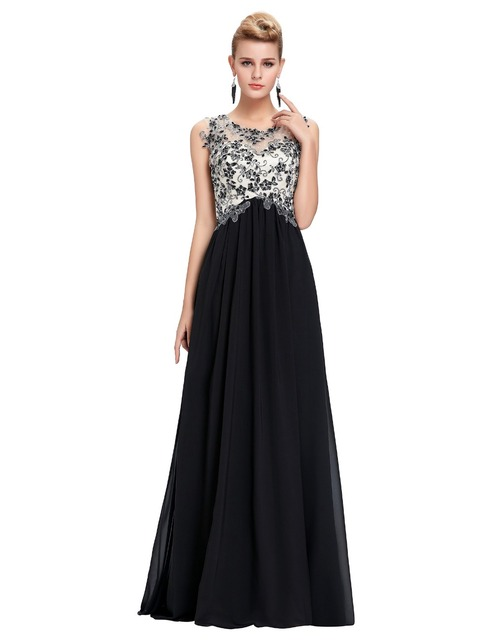 High Neck Cap Sleeve Winter Black Color Runway Embroidery Prom Dress