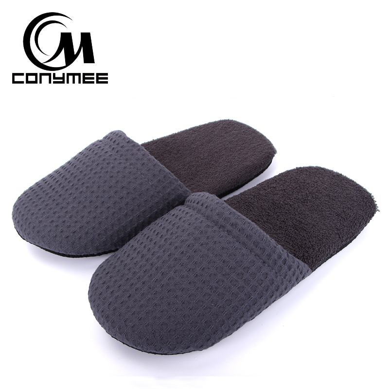 CONYMEE 2018 New Hotel/Travel Slippers Men Fashion Casual Shoes Sneakers For Home Indoor Slipper Pantufas Men's Soft Floor Shoe conymee shoes woman fashion striped indoor home slippers pantufa for men women hotel travel sneakers casual shoe sapato feminino