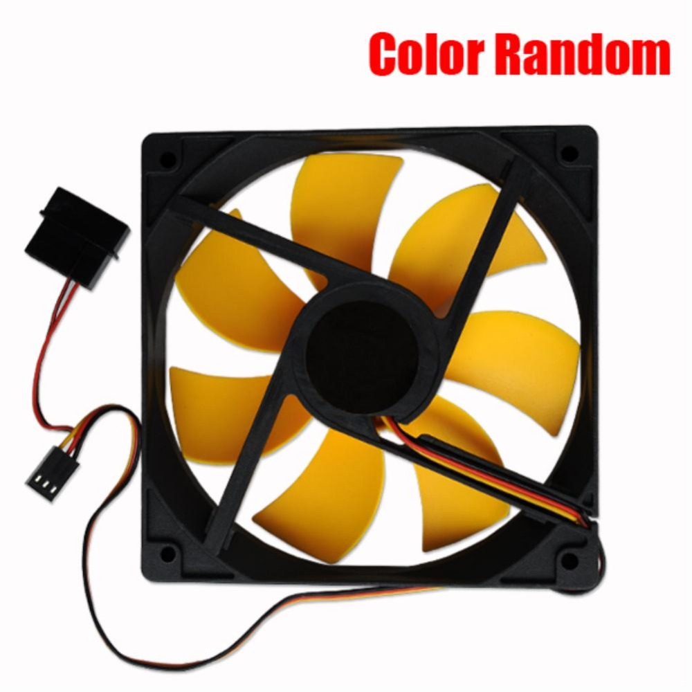 YCDC 4Pin 3Pin 12cm computer case cooling fan quiet cpu and power cooler fan cooling radiator fan 120mm computer pc Chassis fan