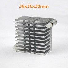 1pcs Wholesale Aluminum Cooling Heat Sink 36 x 20mm 36mm Heatsinks for IC VGA DDR X360