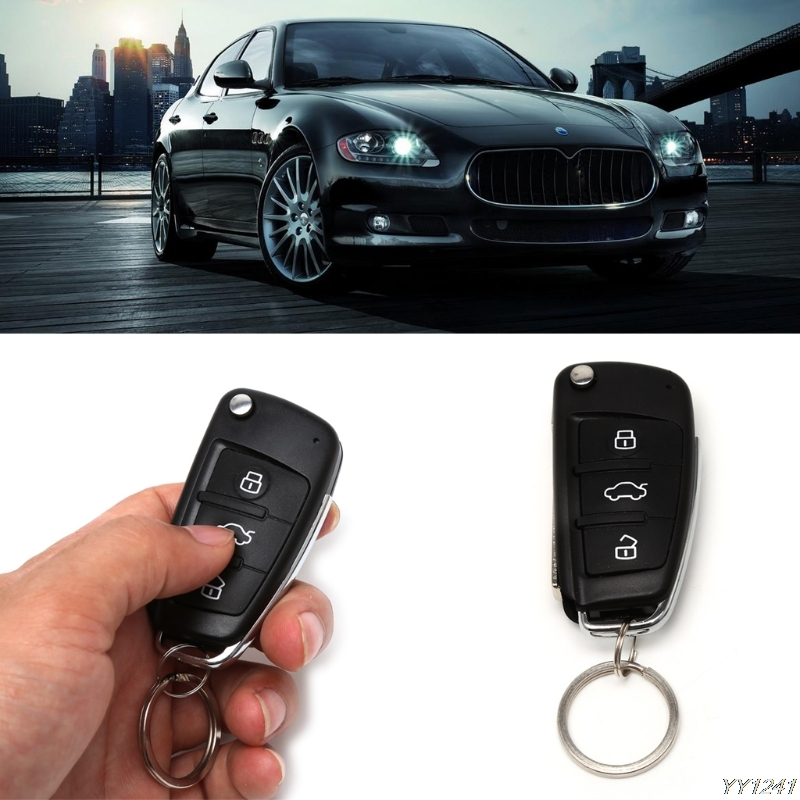 Universal Car Alarm Systems Auto Keyless Entry System Button Start Stop LED Keychain Central Kit Door Lock with Remote Control
