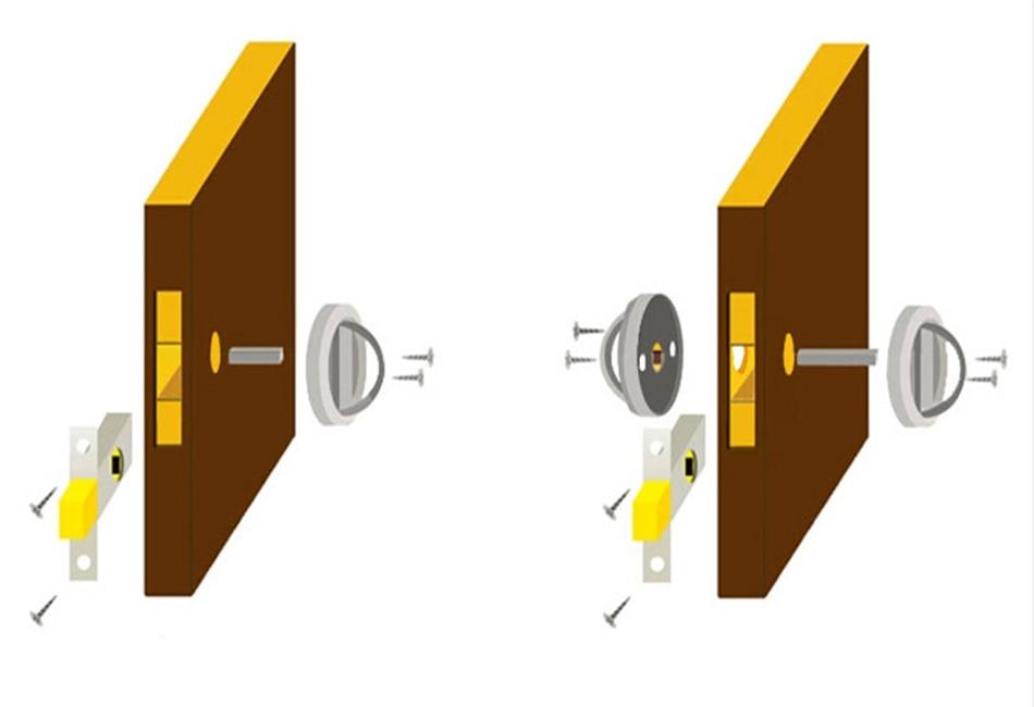 Fashion Black Stainless Steel Recessed Hood Lock Cup Handle Hidden Door  Locks Door Handles For Interior Doors Combination Locker In Locks From Home  ...