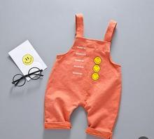 купить Kids Clothes Overalls 2019 Summer Baby Pants New Children Bib Smile 1 2 3 4 Year Cute Baby Boy Girl Summer Shorts SY-F172101 дешево