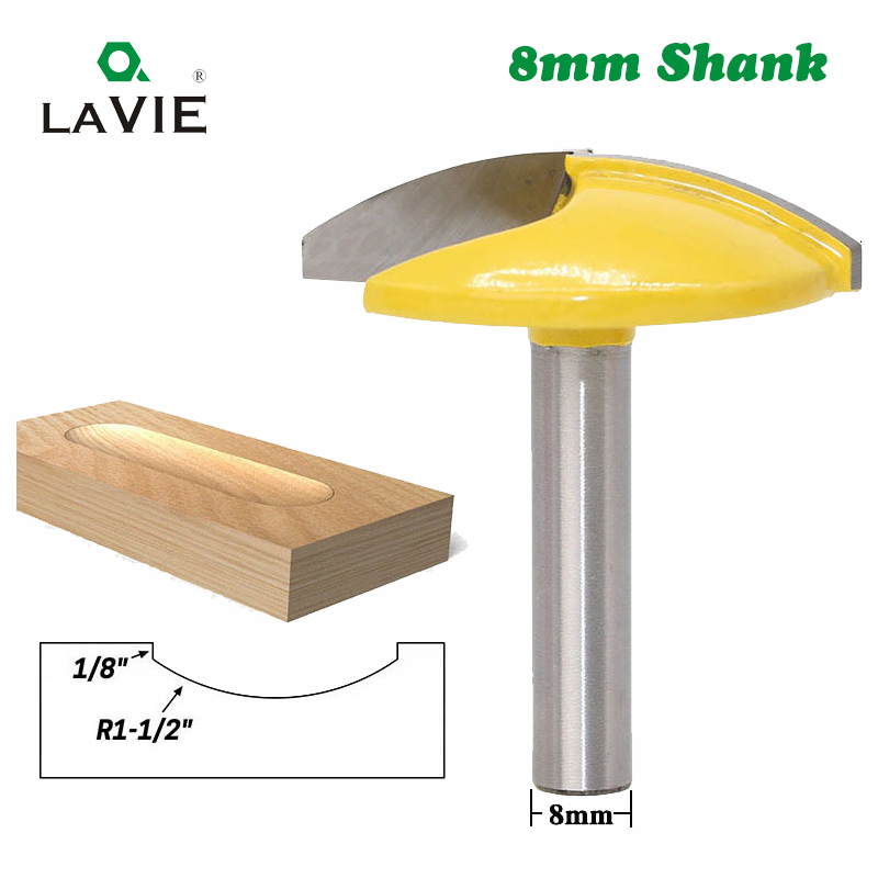 LA VIE 1PC 8mm Shank Small Bowl Flat Bottom Knife Milling Cutter For Wood 1-3/4