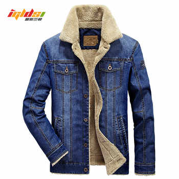 Men Jacket and Xoats Brand Clothing Denim Jacket Fashion Men's jeans jacket Thick Warm Winter Outwear Male Cowboy Size:M-4XL - DISCOUNT ITEM  30% OFF All Category