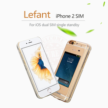 No Jailbreak Dual SIM Card Dual Standby SIM Adapter Cases Call SMS Long Standby Battery for iPhone 6(s)/6(s) plus