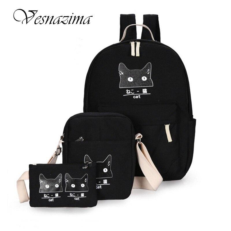 55004f03af96 рюкзаки для девочек-подростков школьные-рюкзаки пенал школы канцелярия для  школы чёрный красный синий порфтель для школы холщёвые школьные портфельи  холст ...