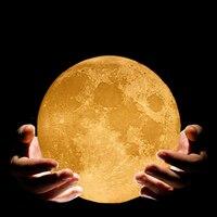 28 18 13cm 3D Magical Moon LED Night Light Moonlight Color Changing Desk Sleeping Lamp USB