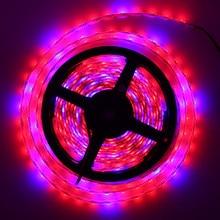 LED завод Лампы для роста растений 5050 Светодиодные ленты-Водонепроницаемый DC12V красные, синие 3:1, 4:1, 5:1, для парниковых гидропоники растениеводства, 5 м/лот