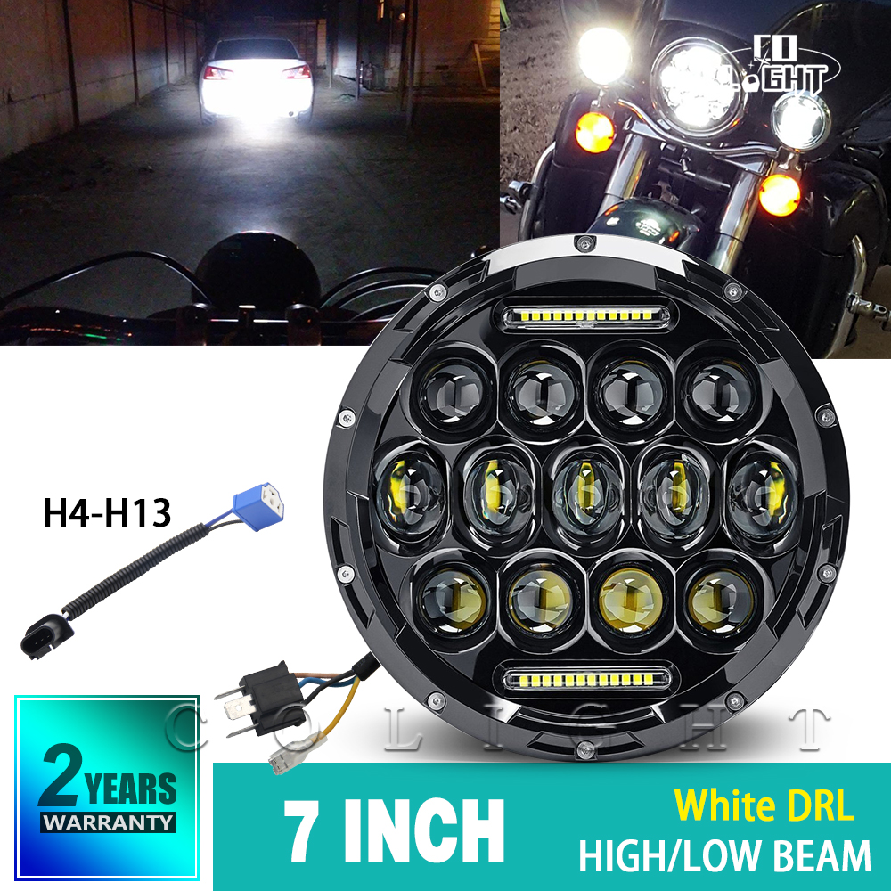 CO LIGHT 7 Inch Headlights H4 Daytime Running Lights for Auto Niva 4X4 Jeep Wrangler 12V 24V Offroad Car Accessory
