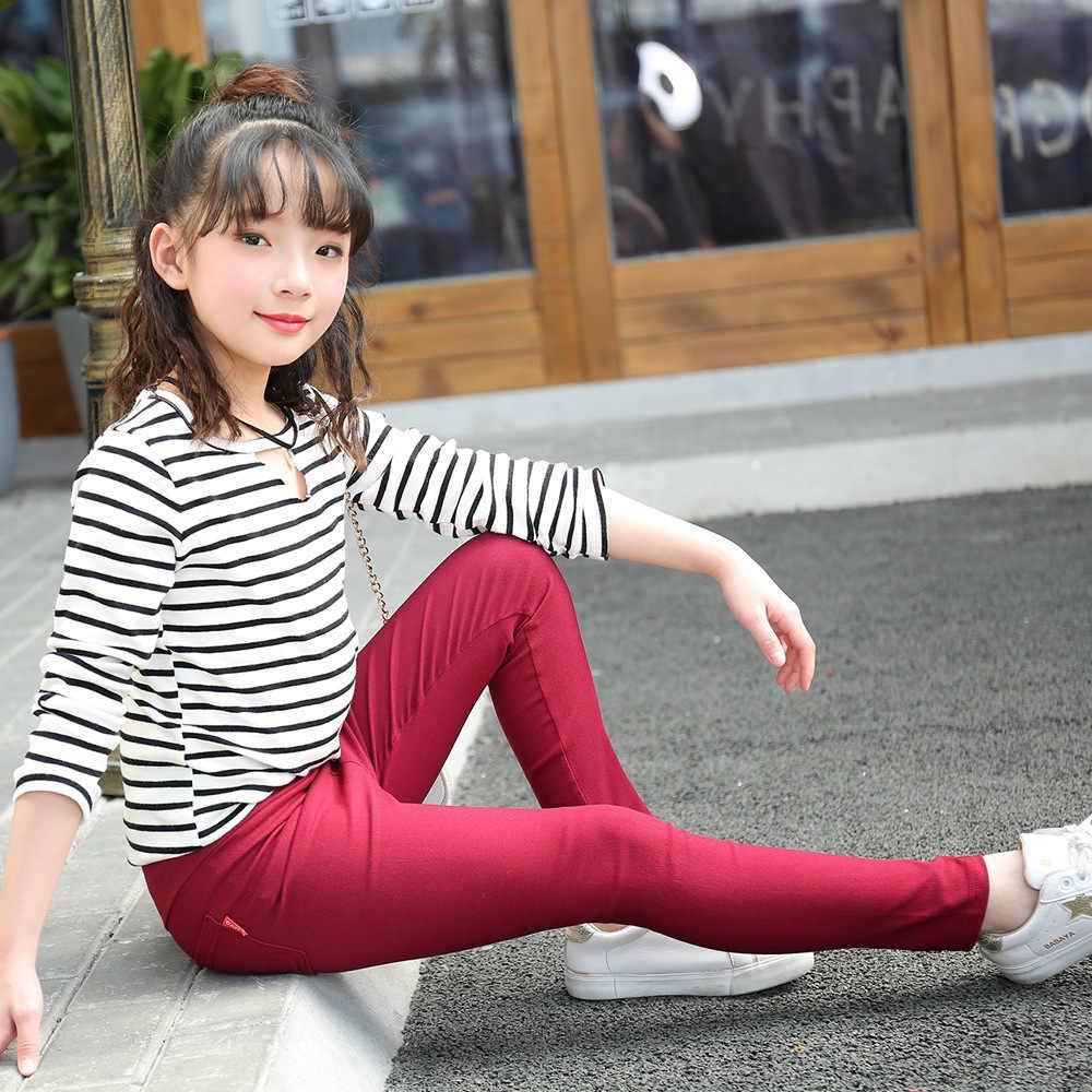 ファッションの子供の鉛筆パンツ 2019 ガールズソリッド女レギンスキャンディーカラー長ズボン春夏スキニーパンツ 3-12 年