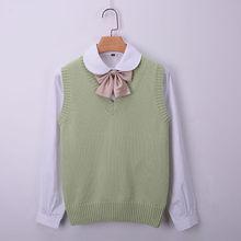 a96fbac421ca8a 100% Katoen Lente Gebreide vrouwen Vest Meisjes Vesten V-hals Vrouwelijke  Vest Breien Vest voor Vrouwen Pullovers dame Trui